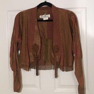 Vintage shrug jacket